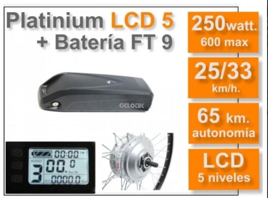 Kit Platinium LCD 5 con batería FT de 9 Ah de Ciclotek