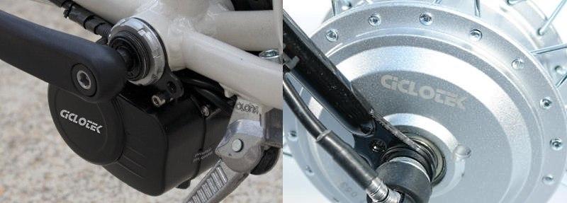 Tipos de motores de bicicleta eléctrica