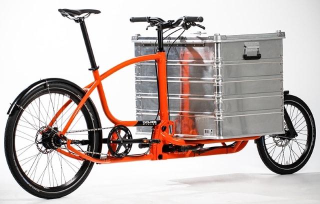 Una cargo bike