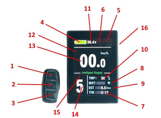 Esquema de la pantala LCD5X Color