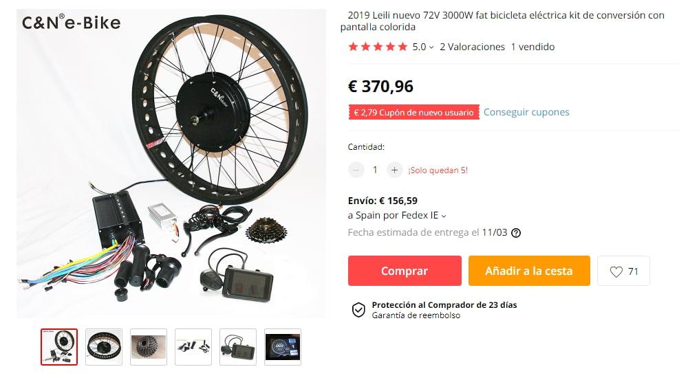 Kits de bicicletas eléctricas super potentes